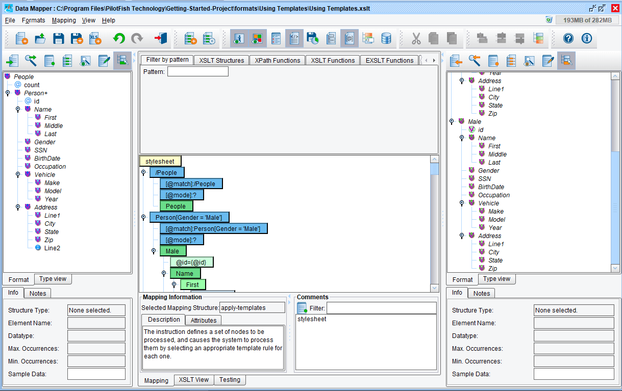 Data Mapping Template on